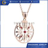 CPC031 Fashion jewelry big pendant design stainless steel pendant with crystal coins locket