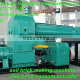 Henan sell well red brick making machine in foreign country(double grade clay brick vauum extruder)