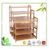 Unique and modern bamboo wooden shoe rack