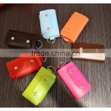 PU Leather Car Key Holder Bag Plaid Key Car Wallets Key Purse Pouch