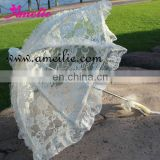 Cheap lace wedding parasol umbrella