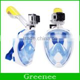 Underwater Diving Mask Snorkel Set Swimming Training Scuba full face snorkeling mask Anti Fog For Gopro Camera