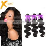 Brazilian natural black virgin hair weave body wave human hair extension