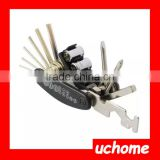 UCHOME 15 in 1 Multi-Function Bike Bicycle Cycling Mechanic Repair Tool Kit