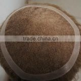 Best quality 6 inch china human hair toupee wigs, men hair toupee