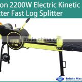 15Ton 2200W Electric Kinetic Fast Log Splitter-3s Cycle Time YouTube Video Available