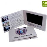 Promotional 7 inch LCD video greeting book, lcd video brochure card for advertising