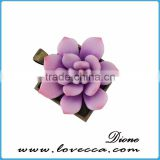 2017 Polymer clay Purple Simulation Succulent jewelry flower wholesale