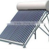 Compact pressurized progressive tube solar water heater for bath