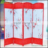 Folding Screen Room Divider 4 Panles Wooden Frame Folding Screen Room Divider GVSD027