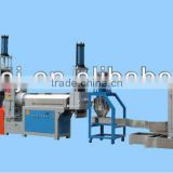 two-stage hydraulic-cut plastic recycling machine for PP, PE, HDPE, LDPE, ABS