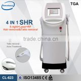 Skin Whitening 3 Handles Elight IPL RF Nd Yag Face Lifting Laser Hair Removal Tattoo Removal Beauty Device 515-1200nm