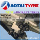 Hot sales 660x160 480x200 armed airplane tires