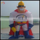 cartoon promotion inflatable superman cartoon characteristic for advertising