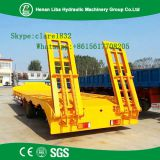 60t Heavy Loading 3 Axle Excavator Shipping Semi Trailer Trucks , High Quality Lowbed Semi Trailer