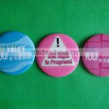 Button badge with direct printing