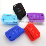Hot selling silicone case for key vw Golf 7 key case 3 button remote key cover