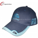 Sky Blue Application Embroidery Peak Childrens Baseball Caps