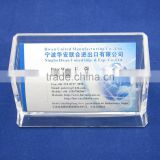Hot selling transparent plastic desktop name card holder