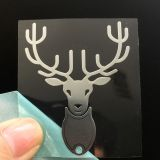 Custom decorative trademark metal nickel stickers with adhesive glue