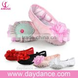 Big Flower Design Children Girls Soft Sole Ballet Shoes Canvas Ballet Dance Shoes For Kids