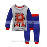 little boy R letter long sleeve kids hoodies set with pants kid sweatshirt kids fall wearing sets