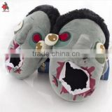 Heavy taste Halloween couples cotton shoes whimsy slippers zombie zombie sandals plush toys Halloween gifts