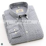 T-MSS528 Man Long Sleeve Cotton Polka Dot New Model Shirts