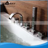 Bathroom Bath Tub Faucet Surface Mounted Wholesale With Deck Mounted Tub Shower Faucet With Hand Shower