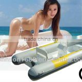 Rubber boat with seats