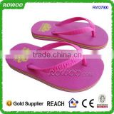 fashion pink summer nude girl slippers, girls flat rubber slippers