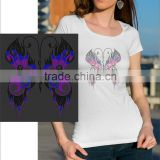 Beautiful butterfly hotfix t shirt motif with different colors iron on transfer