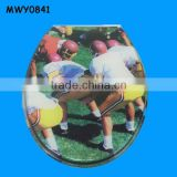 Soccer ball players resin Indian Toilet Seat
