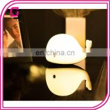 LED baby night light silicone baby nuesery lamp cute dolphin lamp for bedroom
