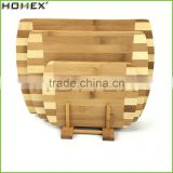 Two Tone Bamboo Cutting Board Set Chopping Board Set with Holder/Homex_FSC/BSCI Factory