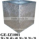 APN Galvanized zinc vase,Galvanized zinc watering can , Zinc Pot Planter, zinc planter for gardening and household