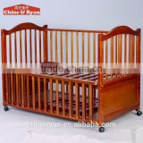 Fashionable wholesale price portable wooden baby bed protection