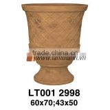 Vietnam Curved Brown Pattern Decorative Light Painted Glazed