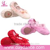 New Fashion Girls Canvas Soft Sole Lace Shoes Children Kids Ballet Dance Shoes