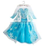 New fashion elsa dress cosplay costume in frozen for kids dress FC004