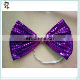 Cheap Self Tie Party Fancy Dress Sequin Large Bow Ties HPC-3109