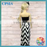 Wholesale toddler girl boutique dress chevron long skirt latest girls cotton skirts