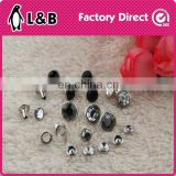 2016 metal rivet with decorative crystal