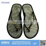 latest fashion plain lady straw slippers