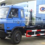hot sale 190HP euro3 dongfeng 10m3 pull arm garbage truck