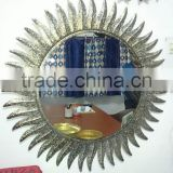 sun shape metal antique mirror