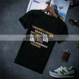Peijiaxin Fashion Design Casual Style Colorful Words Cheap Printing T shirt Screen Printing
