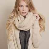 Single Color Women Winter Knitted Infinity Circle Loop Scarf Wholesale