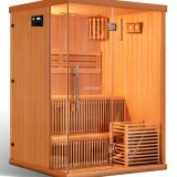 Luxury Design Cedar Wood Sauna Single/ Couple Infrared sauna KD series
