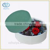 green round cyclinder shape floral foam plate for round flower box for Valentine's Day